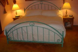 New Wrought Iron Custom Hand Forged Allen Bed Frame