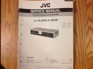 service manual for JVC Stereo integrated amplifier A GX2 GX2B