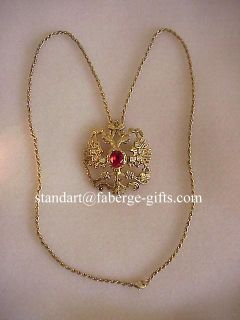 Anastasia Russian Imperial Romanov Royal Coat of Arms Necklace