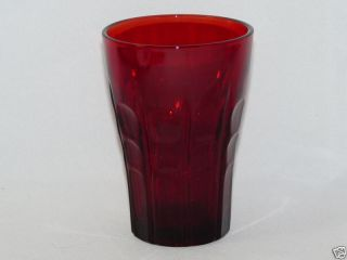 Anchor Hocking High Point Ruby Red Flat Juice Glass
