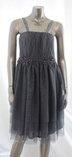 American Rag New Gray Womens Pleated Empire Waist Dress Size 1x Plus