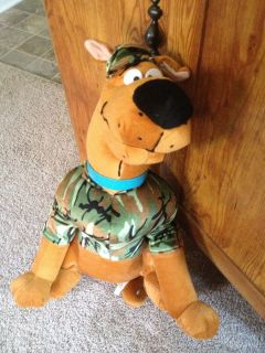 Scooby Doo Military Camouflage Stuffed Plush Animal Approx 24 Inches