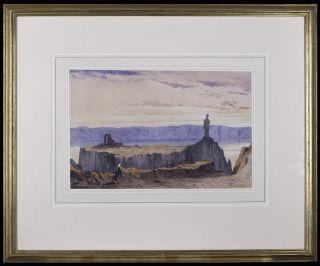 Original Painting Irish Artist Andrew Nicholl R H A The Dead Sea Lot