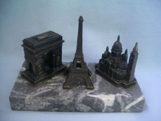 Vintage Metal Miniature Buildings Souvenir Paris Eiffel Tower Le Sacre