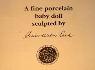 hamilton heritage porcelain baby doll andrew w box