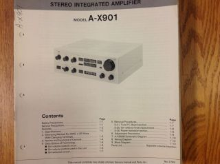 Service Manual for JVC Stereo Integrated Amplifier A X901
