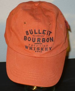 Bulleit Burbon Frontier Whiskey logoed Golf Baseball Hat WITH SIDE