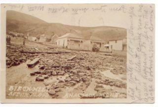 Anaconda MT Montana 1911 RPPC Postcard Flood Disaster