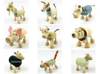 Toy Animals Zoo Figure Eco Friendly Wood Textiles Anamalz