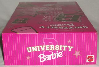 University Bulldogs Cheerleader Barbie Mattel Doll African American