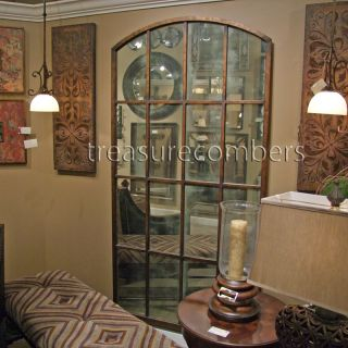 Huge Metal Floor Wall Mirror Amiel Arch Ballard Designs