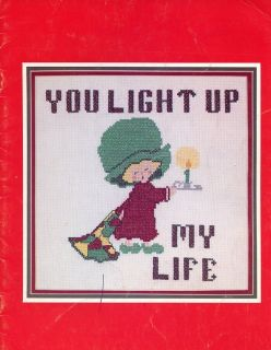 You Light Up My Life Friends Love Grandma Cross Stitch Pattern Leaflet