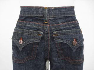 Angel Premium Dark Wash Flare Leg Denim Jeans Size 3