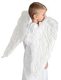 Large Angel Wings Costume Set White Real Feather Marabou Fairy Dress