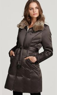 Andrew Marc Ladies Quilted Down Coat Avalanche with Detachable Fur