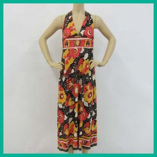 Anna Sui Womens Butterfly Mosaic Matte Jersey Maxi Dress Cream Multi12