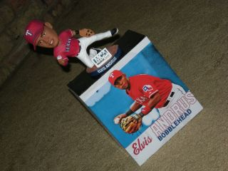 RARE Texas Rangers Elvis Andrus Bobble Head Doll TX Stadium Giveaway