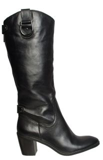 Anne Klein Womens Boots Brenton Black Leather Sz 8 5 M