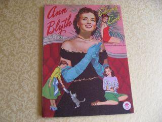 Ann Blyth Coloring Book 1952 Merrill Vintage