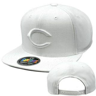 MLB American Needle Colorz White Cap Hat Flat Bill Snapback Cincinnati
