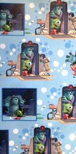 MONSTERS, INC. * gift wrap PARTY wrapping paper 16 sheets MONSTERS INC