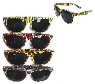Animal Print Frame Sunglasses Novelty Glasses Eyewear Tiger Leopard
