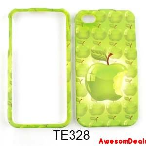 Cell Phone Cover Case for Apple iPhone 4 4S Green Apple