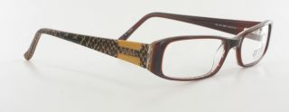 GU 1478 Eyeglasses Brown Animal Print Plastic Optical Eyeglass Frame
