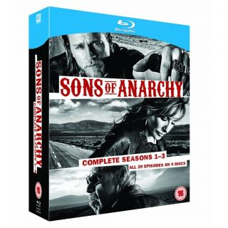 Sons of Anarchy Complete Seasons 1 3 1 2 3 Blu Ray Box Set Hit TV
