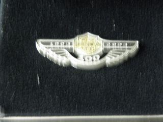 100th Anniversary Harley Davidson Sterling Silver Logo Pin