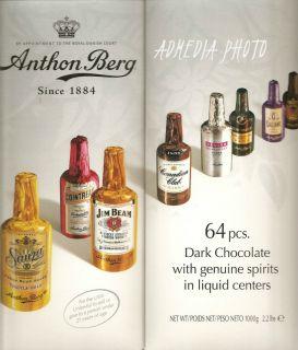 Anthon Berg Chocolate Liqueur Bottles 64 Ct Holiday Gift Box