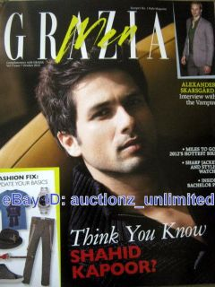 Grazia Men Supplement October 2012 Shahid Kapoor Kapur   India Fashion