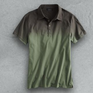 Marc Anthony Guard Green Slim Fit DIP Dyed Polo Shirt Mens M Medium