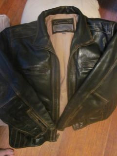 Andrew Marc XXL Brown Leather Jacket
