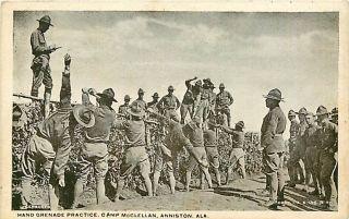 Alabama Al Anniston Hand Grenade Practice Camp McClellan Postcard
