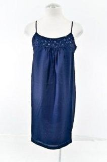 Eileen Fisher Sequined Silk Racerback Cami Dress