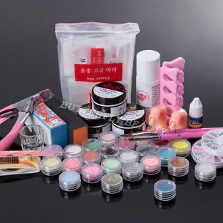 Nail Art Acrylic Set Acrylic Liquid glitter Powder Pen Tool nail
