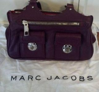 Gently Used Marc Jacobs Anouk Multi Pocket Purple Leather bag push