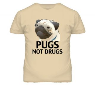 pugs not drugs funny animal dog t shirt