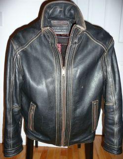 Andrew Marc Leather Motorcycle Biker Bomber Flight Jacket