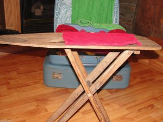 Vintage Antique Childrens Wooden Toy Ironing Board