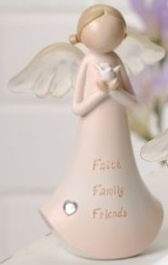 Angel with Sentiment Faith Family Friends Figure Roman Giftware 60761B