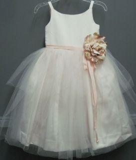 Girls US Angels Flower Girl Dress 101 Pink Size 4