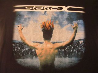 2009 STATIC X LOS ANGLES CALIFORNIA HEAVY METAL ROCK BAND TOUR SHIRT