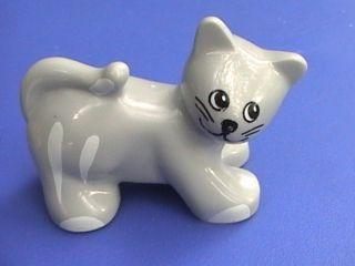 Lego Duplo Cat Figure Gray Kitten Barn Farm Animal Toddler Toy