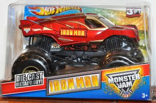 Hot Wheels Monster Jam IRON MAN 1 24 Grave Digger 30th Anniversary NIB