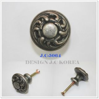 Antique Pewter 30mm Vintage Furniture Door Pull Dresser Wardrobe