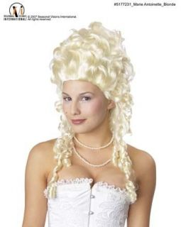 Marie Antoinette Queen Costume Wig Long Blonde Curls