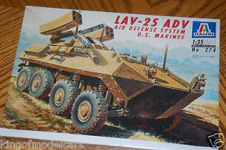 italeri lav 25 adv air defense system us marines time
