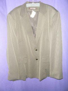 Anne Klein New York Brown Dotted Blazer Size 22W